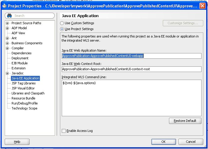 context root application xml weblogic